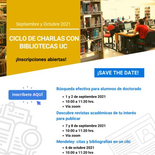 Ciclo de Charlas con Bibliotecas UC: Mendeley, citas y bibliografías en un clic