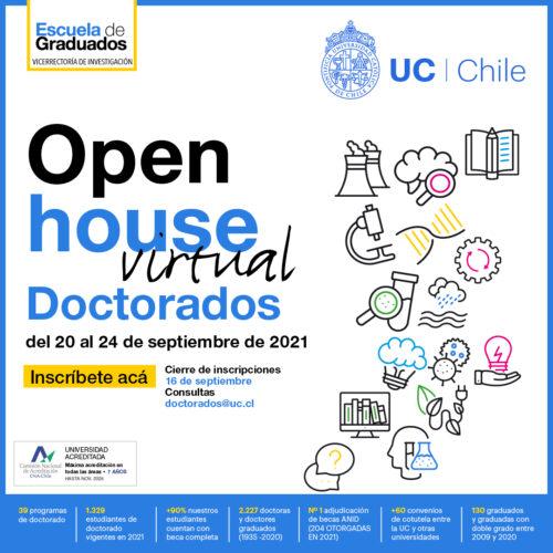 Open House virtual de Doctorados UC 2021 ¡inscripciones abiertas!